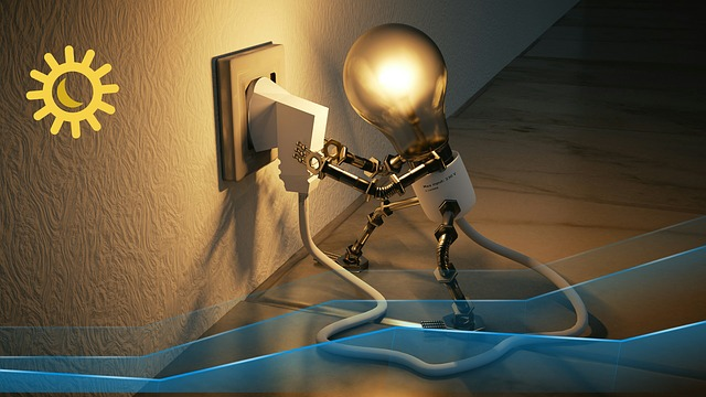 zásuvka a robotická žárovka
